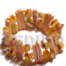 Coconut Stick Gold Lip Square Cut Coconut Bracelets BFJ5090BR