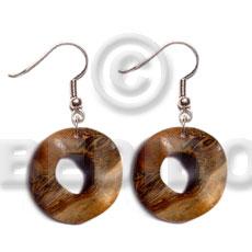 Dangling Robles Wood Ring 35 mm Wood Earrings BFJ5372ER