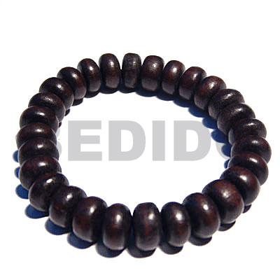 Ebony Tiger Pokalet Kamagong Wood Elastic 7.5 inches 5 mm Wood Bracelets BFJ5309BR