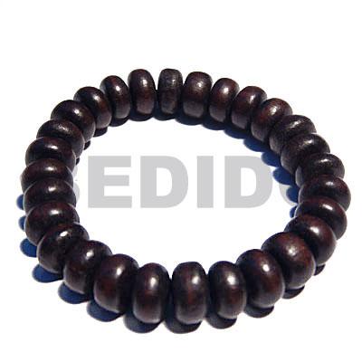 Ebony Tiger Pokalet Kamagong Wood Elastic 7.5 inches 5 mm Wood Bracelets BFJ5309BR