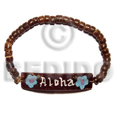 Elastic Coconut Brown Coconut Bracelets BFJ5067BR
