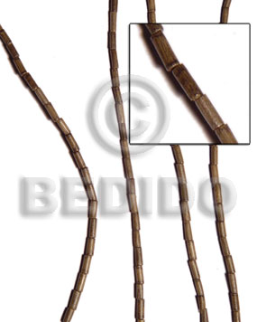 Graywood 5 mm Heishi Gray Wood Beads - Tube and Heishe Wood Beads BFJ105WB