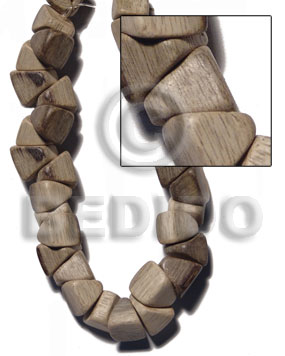 Graywood Barrel Double Slidecut 11 mm Gray 16 inches Beads Strands Wood Beads - Nuggets Wood Beads BFJ442WB