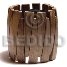 Graywood Coated Elastic Gray Bangles - Wooden Bangles BFJ037BL