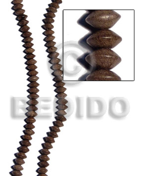 Graywood Saucer 10 mm Gray Beads Strands Wood Beads - Saucer and Diamond Wood Beads BFJ185WB