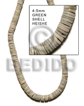 Green 16 inches Green Shell 4-5 mm Heishi Shell Heishe Shell Beads BFJ005HS