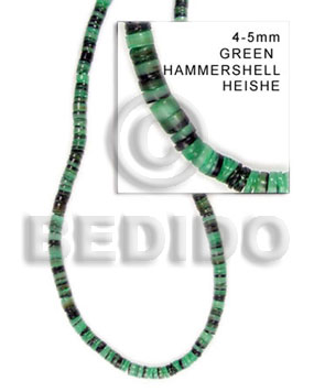 Green 16 inches Hammer Shell Heishi 4-5 mm Dyed Shell Heishe Shell Beads BFJ012HS