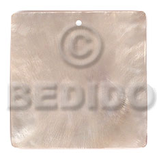 Hammer Shell 40 mm Square White Pendants - Simple Cuts BFJ6247P