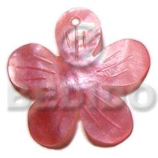 Hammer Shell Flower Pink 40 mm Pendants - Shell Pendants BFJ5383P