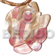Hammer Shell Rose 40 mm Natural Pendants - Shell Pendants BFJ5075P