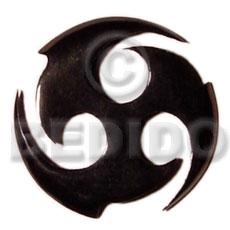 Horn Black Celtic Design 40 mm Pendants - Bone Horn Pendants BFJ5177P