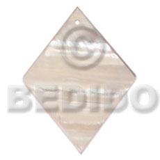 Kabibe Shell 40 mm Diamond White Pendants - Simple Cuts BFJ6220P