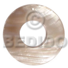Kabibe Shell 40 mm Natural Ring Pendants - Simple Cuts BFJ6206P