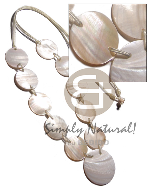 Wind Chime Earing 50 Natural Shell Pendant Beads 50mm
