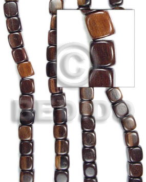Kamagong Wood Cubes 10 mm Tiger Black Wood Beads Dice and Sided Wood Beads BFJ051WB