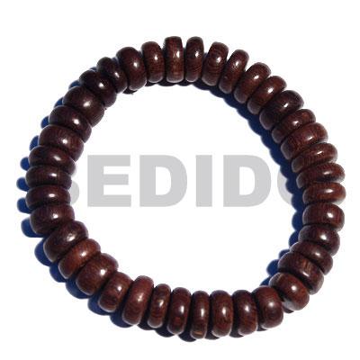 Kamagong Wood Ebony Tiger Elastic Hardwood Pokalet Wood Bracelets BFJ5312BR