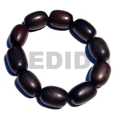 Kamagong Wood Ebony Tiger Oval Elastic Wood Bracelets BFJ5336BR