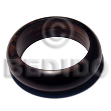 Kamagong Wood Ebony Tiger Solid 65 mm Inner Diameter / Outer 105 mm Bangles - Wooden Bangles BFJ096BL