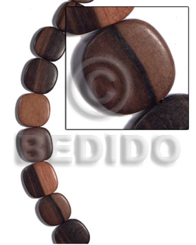 Kamagong Wood Hardwood Face to Face Flat Square 35 mm Wood Beads - Flat Square Wood Beads BFJ478WB