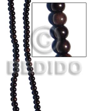 Kamagong Wood Hardwood Round 6 mm Beads Strands Tiger Wood Beads - Round Wood Beads BFJ079WB
