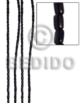 Kamagong Wood Rice 6 mm Black Ebony Tiger Hardwood Wood Beads - Teardrop and Oval Wood Beads BFJ006WB