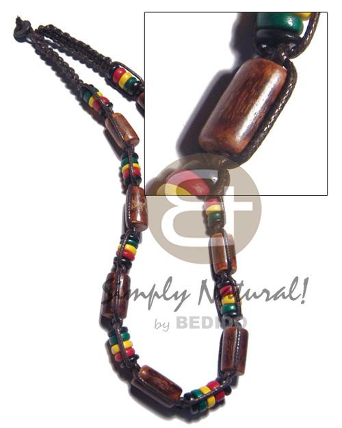 Macrame 7-8 mm Coconut Pokalet Rasta Sig-id Wood Wax Cord Unisex Reggae Rastafarian Accessory BFJ3490NK