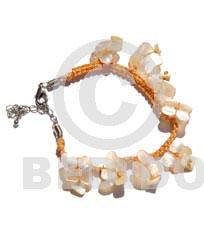 Macrame Hammer Shell Gold Sea Shell Bracelets BFJ325BR