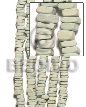 Mint Green 16 inches Coconut Square Cut 8 x 8 mm Dyed Coco Dyed colored beads BFJ004CSQ