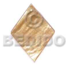 Mother of Pearl 40 mm Diamond Yellow MOP Pendants - Simple Cuts BFJ6221P