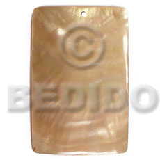 Mother of Pearl 40 mm Rectangular Yellow MOP Pendants - Simple Cuts BFJ6258P