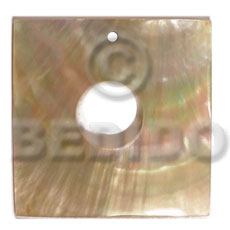 Mother of Pearl 40 mm Square Yellow MOP Pendants - Simple Cuts BFJ6235P