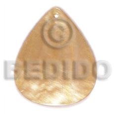 Mother of Pearl 40 mm Teardrop Yellow MOP Pendants - Simple Cuts BFJ6256P