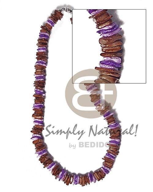 Multi-Color White Rose Puka Shell Square Cut Glass Beads Puka Shell Necklace BFJ3724NK