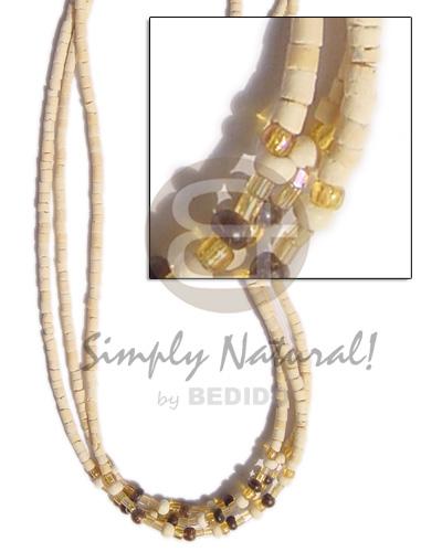 Multi Row Coconut Beads Pokalet Coconut Necklace BFJ118NK