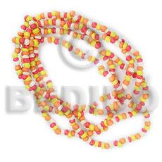 Multi Row Orange Coconut Pokalet 2-3 mm Coconut Bracelets BFJ5004BR