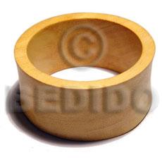 Nangka Wood 65 mm Inner Diameter / Outer 105 mm Yellow Bangles - Wooden Bangles BFJ208BL