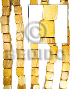 Nangka Wood Dice Yellow 12 mm Wood Beads Dice and Sided Wood Beads BFJ030WB