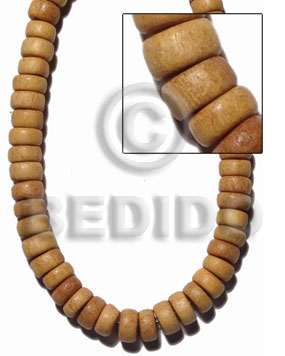 Nangka Wood Pokalet 10 mm Natural Beads Strands Yellow Wood Beads - Pokalet Wood Beads BFJ404WB