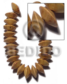 Nangka Wood Saucer 8 mm Yellow Beads Strands Wood Beads - Saucer and Diamond Wood Beads BFJ421WB