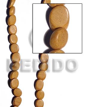 Nangka Wood Slide Cut 8 mm Yellow Beads Strands Wood Beads - Slide Cut BFJ228WB
