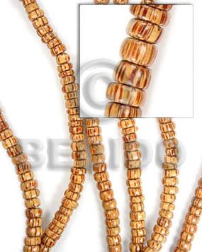Natural 16 inches Palmwood Pokalet 4 x 7 mm Natural Wood Beads - Pokalet Wood Beads BFJ025WB