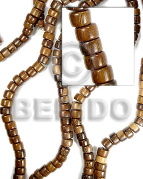Natural 16 inches Robles Wood Pokalet 4 x 7 mm Natural Wood Beads - Pokalet Wood Beads BFJ023WB
