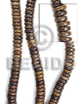 Natural 16 inches Robles Wood Pokalet 5 x 10 mm Natural Wood Beads - Pokalet Wood Beads BFJ013WB