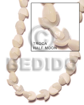 Natural 16 inches Trocha Shell Half Moon Shell Special Cuts Shell Beads BFJ027SPS