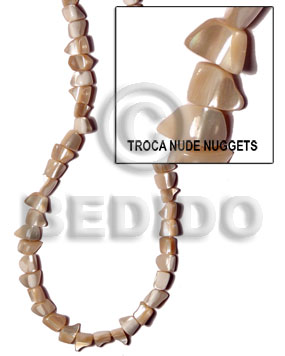 Natural 16 inches Trocha Shell Nuggets Shell Crazy Cut Shell Beads BFJ079SPS