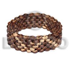 Natural Macrame Bone Mahogany Leather adjustable Wood Bracelets BFJ5297BR