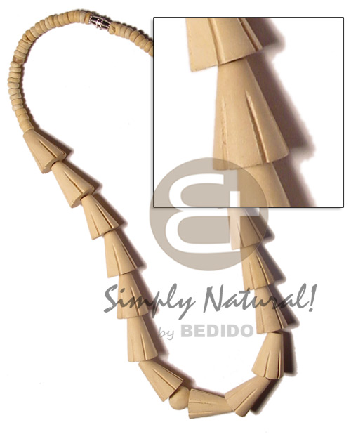 Natural White Cones Coconut Beads Wood Beads 4-5 mm Natural Wooden Necklaces BFJ828NK