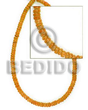 Orange Pokalet 4-5 mm Coconut Coco Pokalet Beads BFJ008PT_5