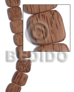 Palmwood Brown Face to Face Flat Square Round Edges 25 mm Wood Beads - Flat Square Wood Beads BFJ485WB