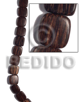Patikan Wood Hardwood Face to Face Flat Square 25 mm Natural Wood Beads - Flat Square Wood Beads BFJ490WB